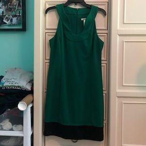 LAUNDRY GREEN TANK TOP DRESS
